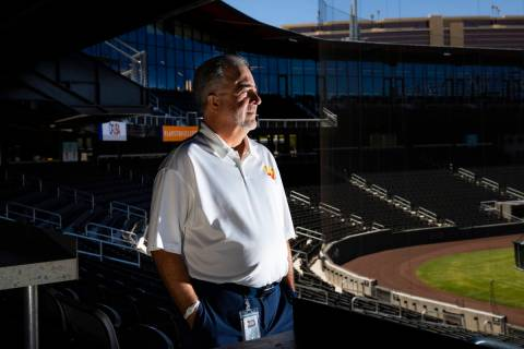 Las Vegas Aviators president Don Logan poses for a portrait at Las Vegas Ballpark in Downtown S ...