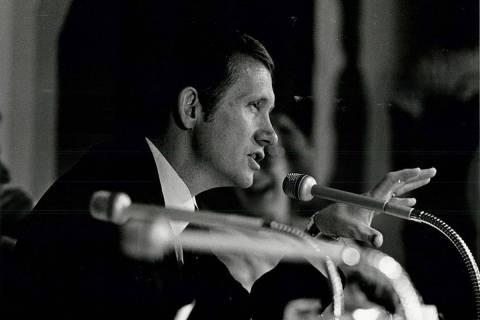 Harry Reid last Nevada Gaming Commission meeting, April 23, 1981 (Gary Thompson/Las Vegas Revie ...