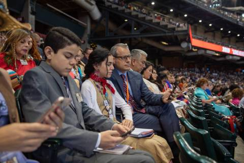 Jehovah's Witnesses attend a 2019 convention in Phoenix. (Courtesy Jehovah's Witnesses)
