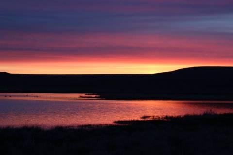 A stunning sunrise at Catnip Reservoir, Sheldon National Wildlife Refuge, Nevada. (Deborah Wall ...