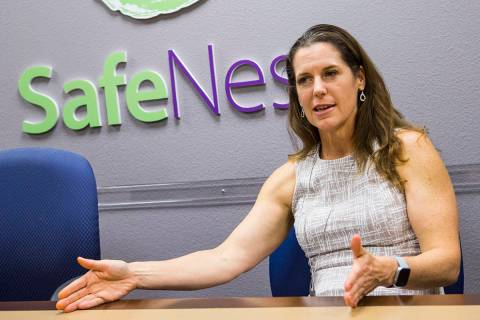 SafeNest CEO Liz Ortenburger talks about the text and online chat features that were added to a ...