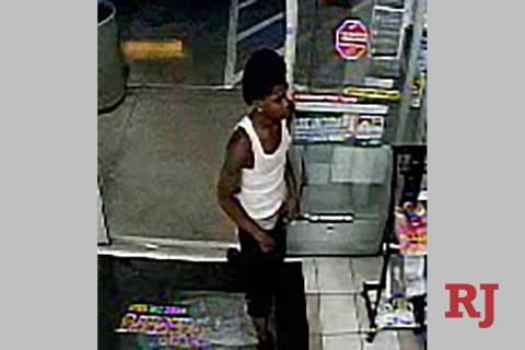 The suspect who beat a store clerk is seen on a still from surveillance video in a late June ro ...