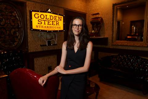 Amanda Signorelli, managing partner of Golden Steer Steakhouse on Sahara Avenue near the Strip ...