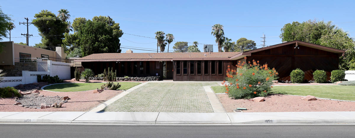 A home at 1859 Ottawa Drive in the Paradise Palms neighborhood in Las Vegas Thursday, July 30, ...