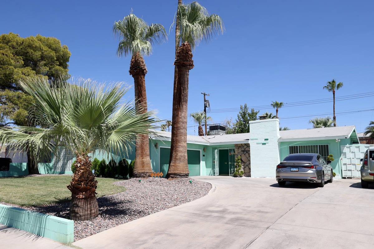 A home at 1716 Sombrero Drive in the Paradise Palms neighborhood in Las Vegas Thursday, July 30 ...