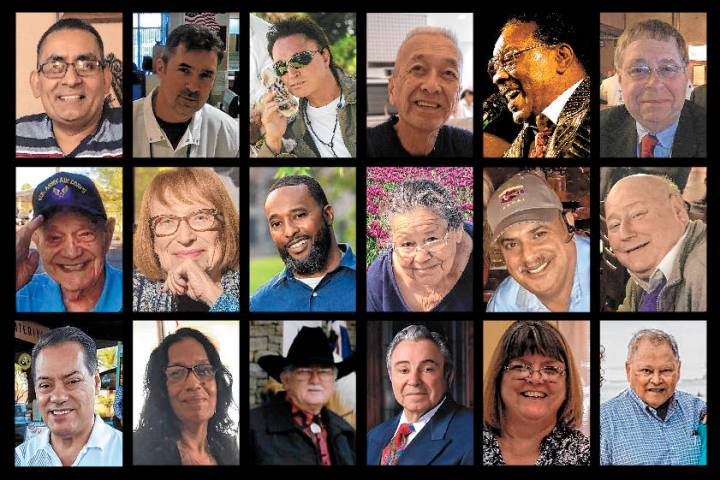 Some of Nevada's victims of the COVID-19 pandemic, top row, from left: Adolfo Fernandez, Ale ...