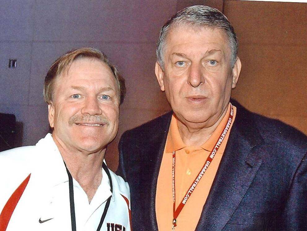 Las Vegas Events president Pat Christenson with Team USA basketball managing director Jerry Col ...