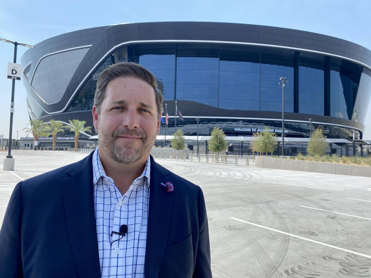 Las Vegas Bowl executive director John Saccenti at Allegiant Stadium in Las Vegas Tuesday, Aug. ...