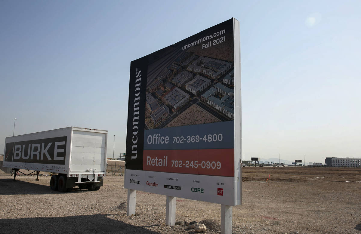 UnCommons project site at the Southeast corner of S. Durango/215 interchange photographed on We ...