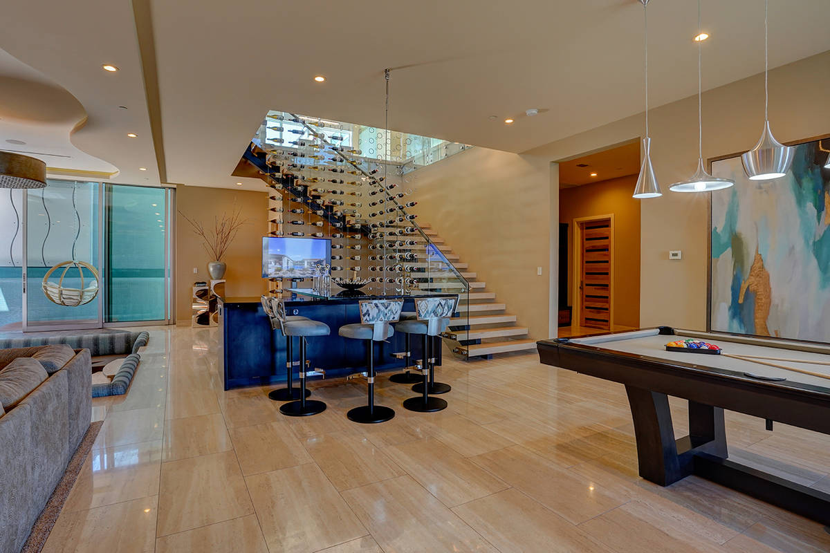 The game room. (Sun West Custom Homes)