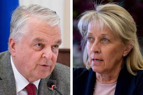Gov. Steve Sisolak on Tuesday, Aug. 25, 2020, rejected a request by Secretary of State Barbara ...
