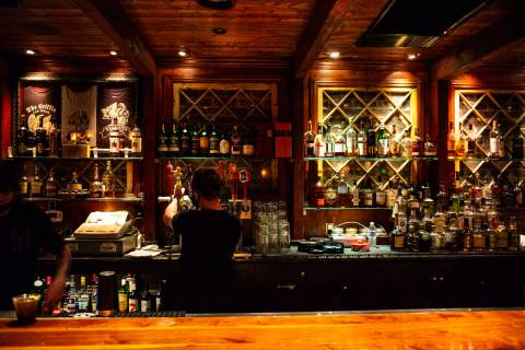 Clark County bars like The Griffin on Fremont Street in downtown Las Vegas will remain closed. ...