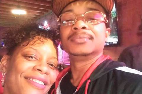 In this September 2019 selfie photo taken in Evanston, Ill., Adria-Joi Watkins poses with her s ...