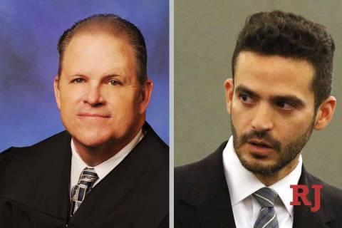 David Jones, left, and David Lopez-Negrete, candidates for District Court Dept.29 (Courte ...