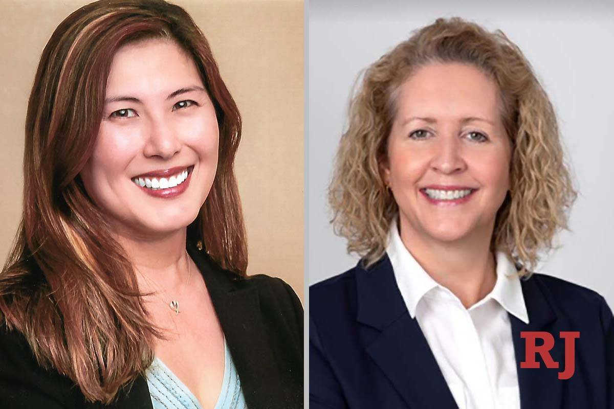 Soonhee Bailey, left, and Michelle Tobler, candidates for Family Court, Department I (Courtesy ...