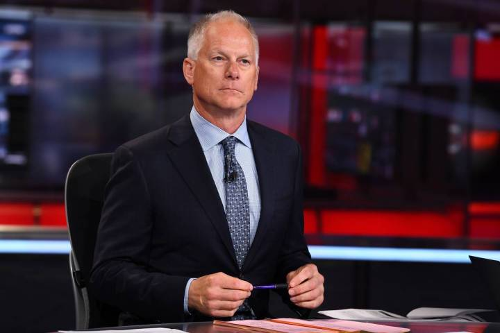 Kenny Mayne sits on the set of SportsCenter. He has been at ESPN since 1994. (ESPN)