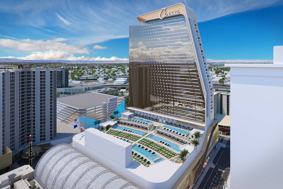 A rendering of Circa's pool deck (courtesy)
