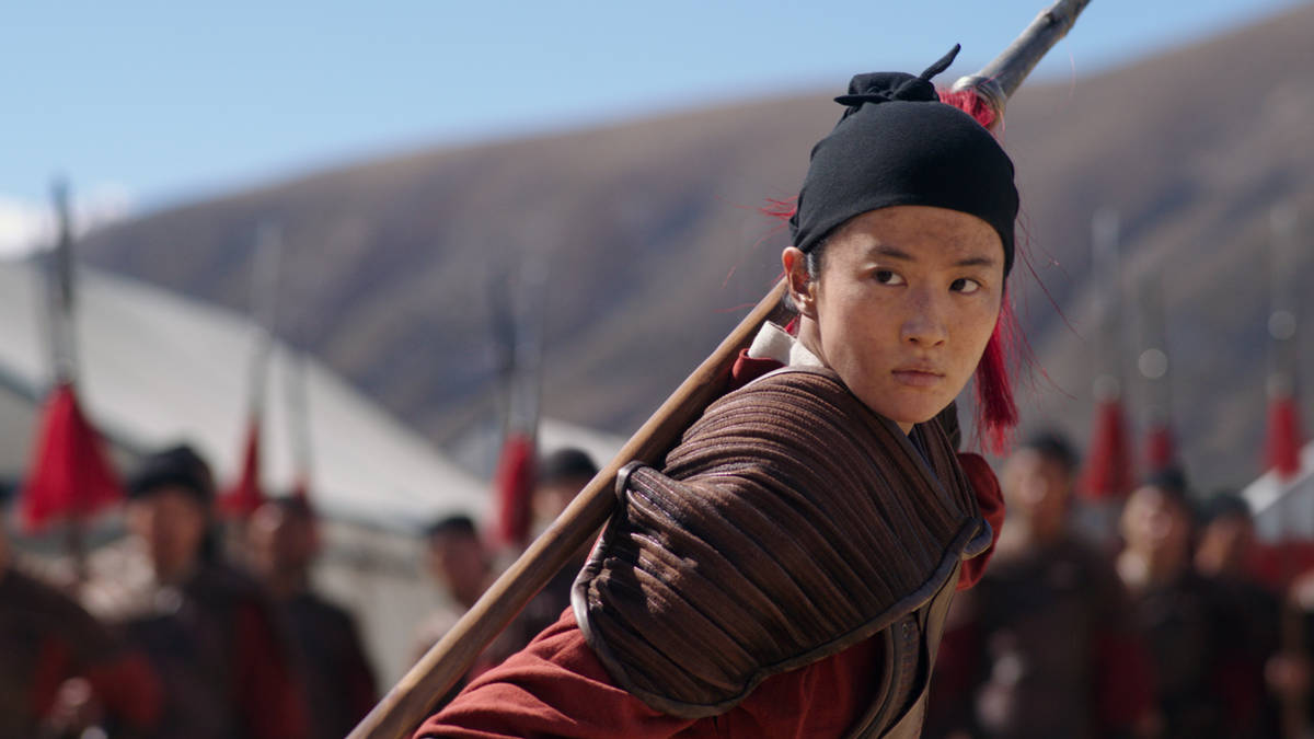 "Yifei Liu portrays the title character in Disney's ""Mulan."" (Disney+)"