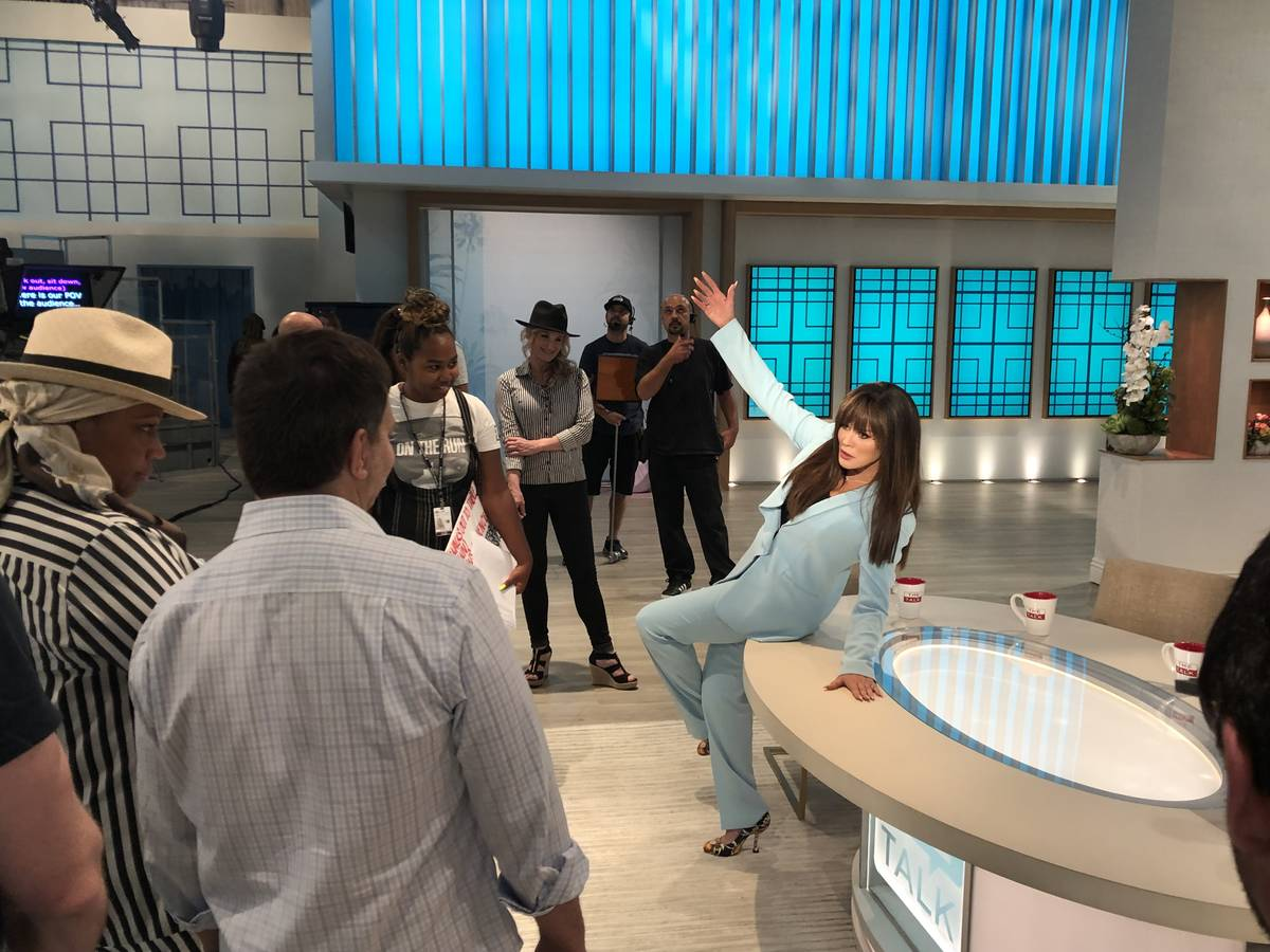 "Marie Osmond is shown joking with the staff on the CBS daytime show ""The Talk,"" on Wednesday, S ..."