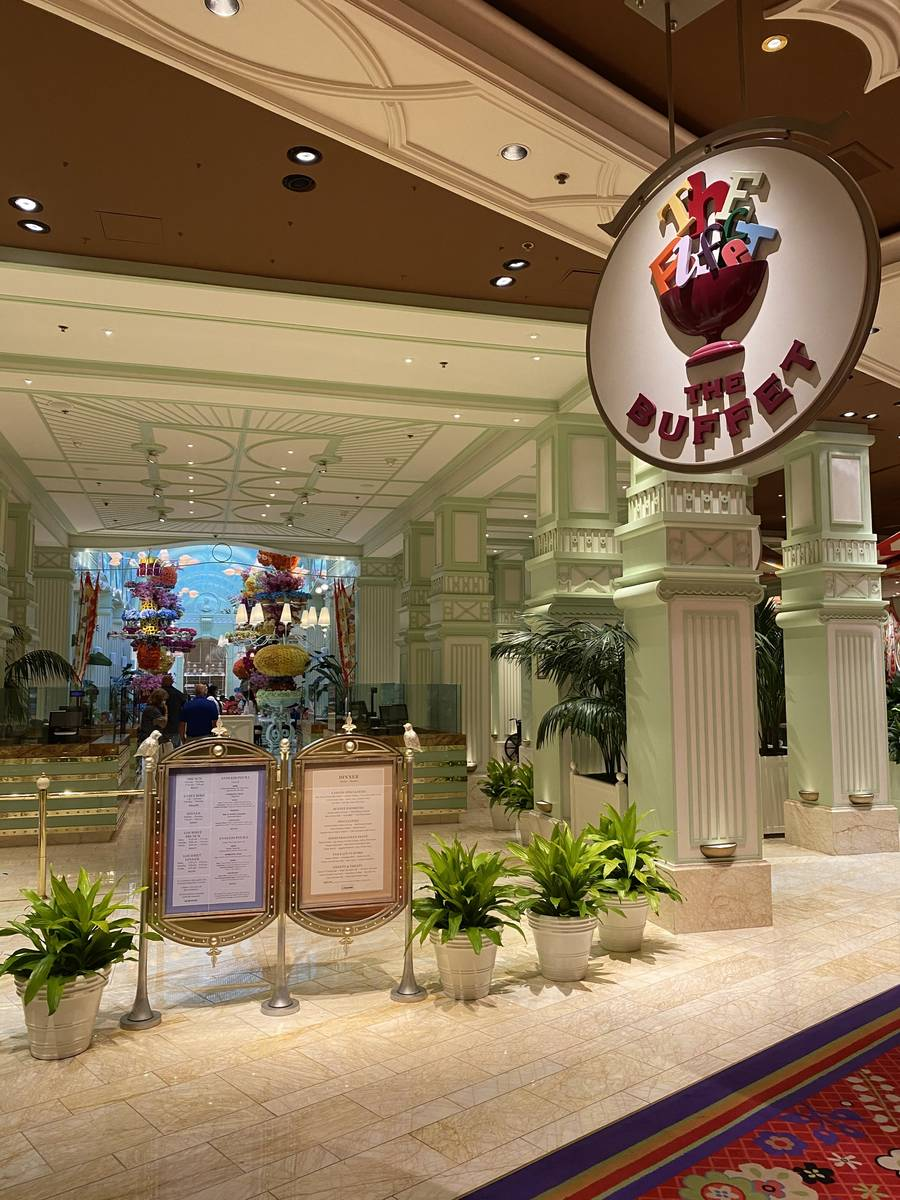 The Buffet at Wynn will close indefinitely after service Monday. (Al Mancini/Las Vegas Review-J ...