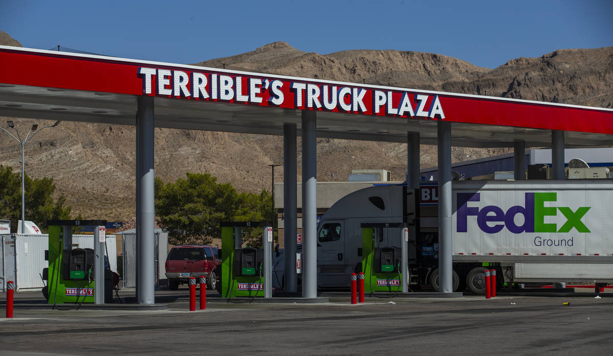 Terrible's Truck Plaza gas station on Friday, Sept. 4, 2020, in Jean. (L.E. Baskow/Las Vegas Re ...