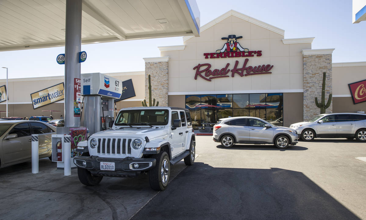 Terrible's Road House gas station and travel plaza on Friday, Sept. 4, 2020, in Jean. (L.E. Bas ...