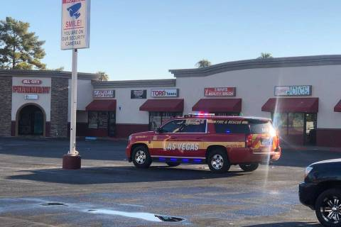A strip mall fire was reported at 821 N. Lamb Blvd. in Las Vegas just before 6 a.m. Friday, Sep ...
