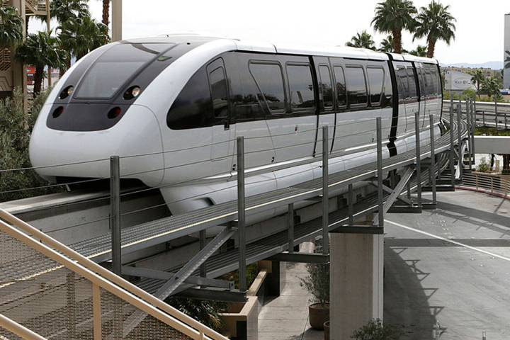 The Las Vegas Monorail (Bizuayehu Tesfaye/Las Vegas Review-Journal)