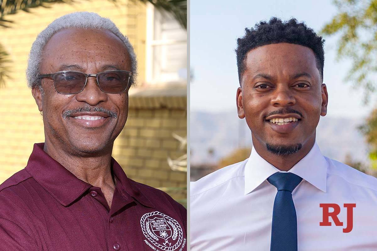 David Washington, left, and WilliamMcCurdyII, candidates for Clark County Commissio ...