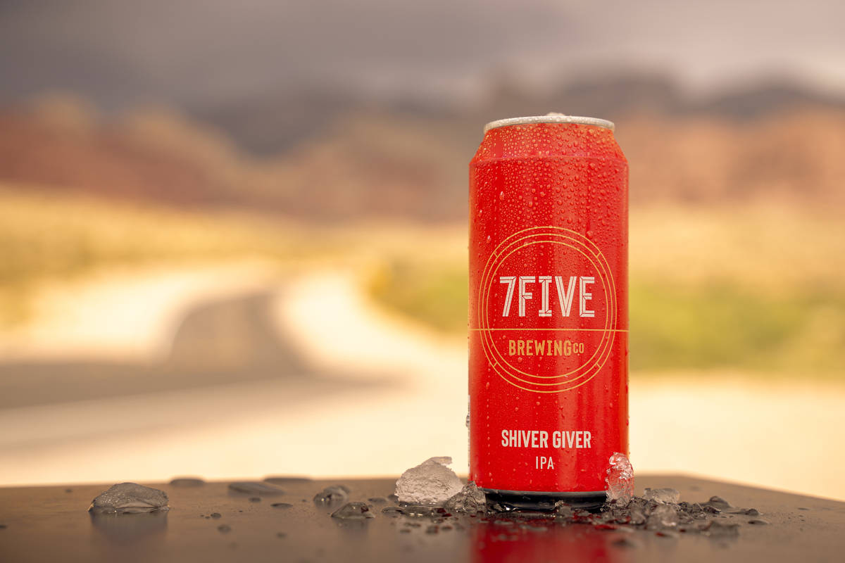 A promotional photo of 7Five Brewing Company's new beer, Shiver Giver IPA. (7Five Brewing Company)