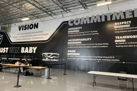 The Las Vegas Raiders secured a 10-year lease on an industrial space across the street from All ...