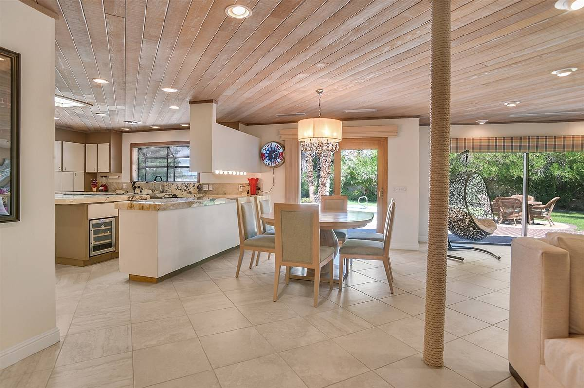 The kitchen opens to the patio. (Nartey Wilner Group)