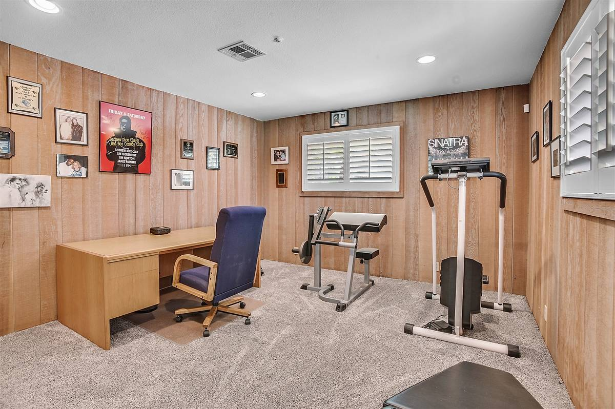 One of the five bedrooms has been made into a gym and office. (Nartey Wilner Group)
