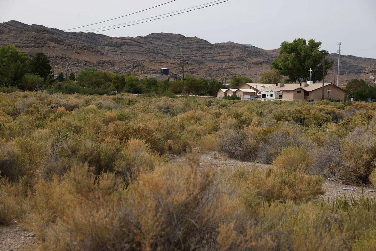 An empty lot in Indian Springs, Friday, Sept. 11, 2020. (Erik Verduzco / Las Vegas Review-Journ ...