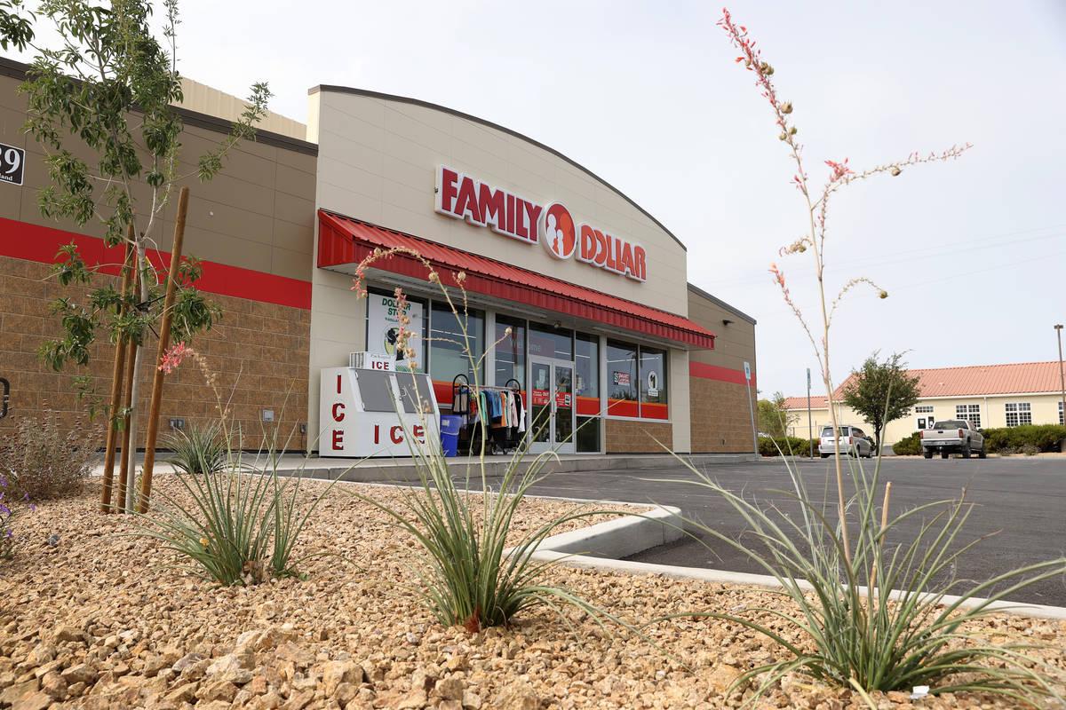 Family Dollar store in Indian Springs, Friday, Sept. 11, 2020. (Erik Verduzco / Las Vegas Revie ...