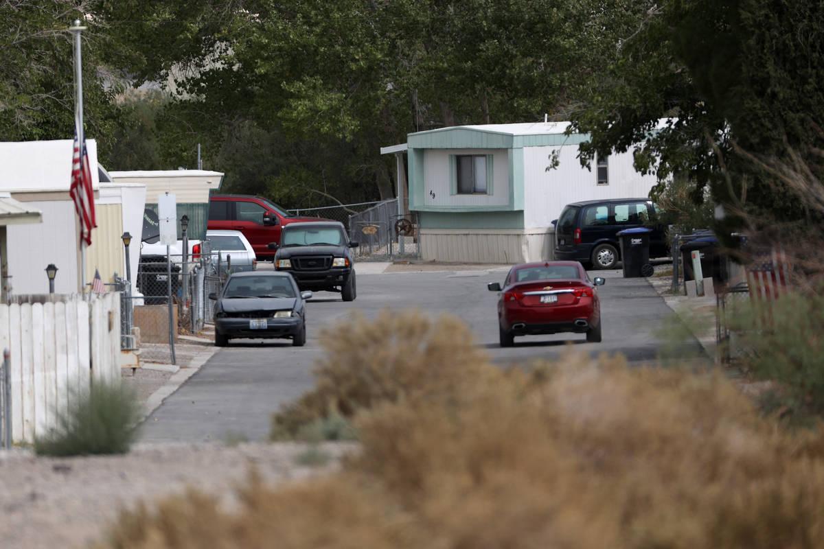 A community in Indian Springs, Friday, Sept. 11, 2020. (Erik Verduzco / Las Vegas Review-Journa ...