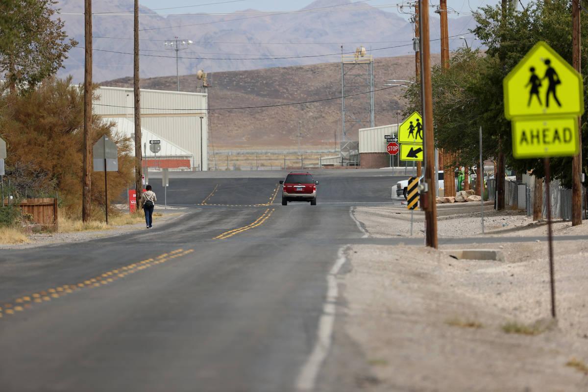 MacFarland Avenue in Indian Springs, Friday, Sept. 11, 2020. (Erik Verduzco / Las Vegas Review- ...