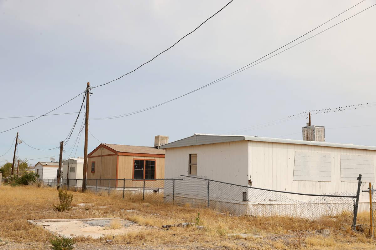A mobile home park in Indian Springs, Friday, Sept. 11, 2020. (Erik Verduzco / Las Vegas Review ...