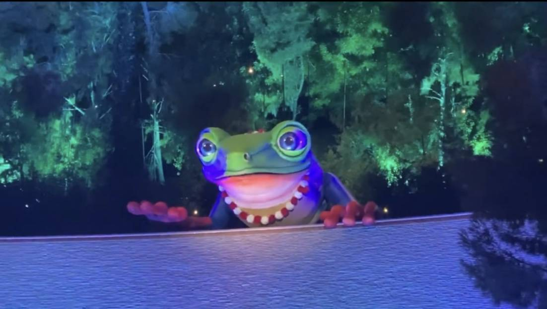"""The giant frog singing """"Somewhere Over The Rainbow"""" is shown at Lake of Dreams at Wynn Las Vega ..."""