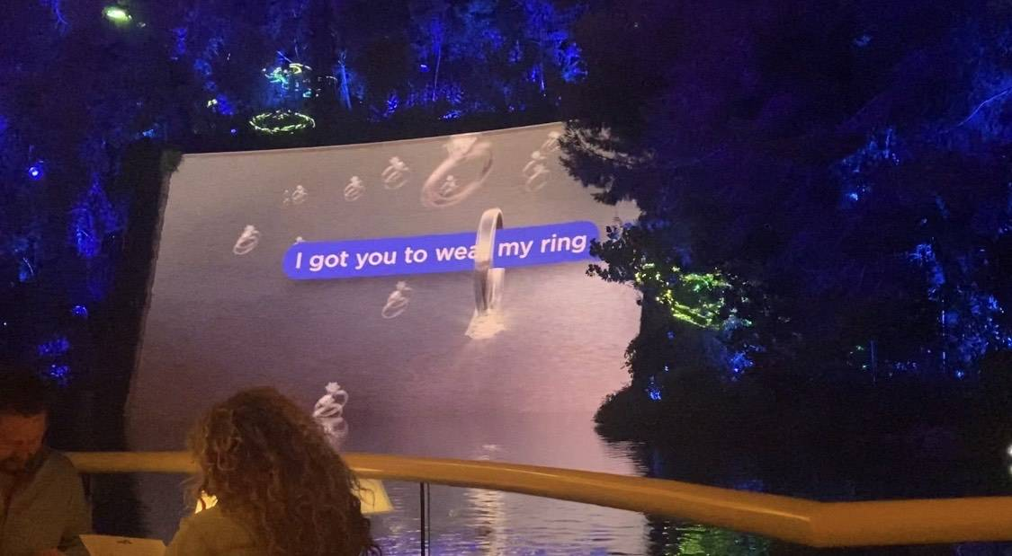 """The """"I Got You Babe' number from Lake of Dreams at Wynn Las Vegas is shown on Thursday, Sept. 1 ..."""