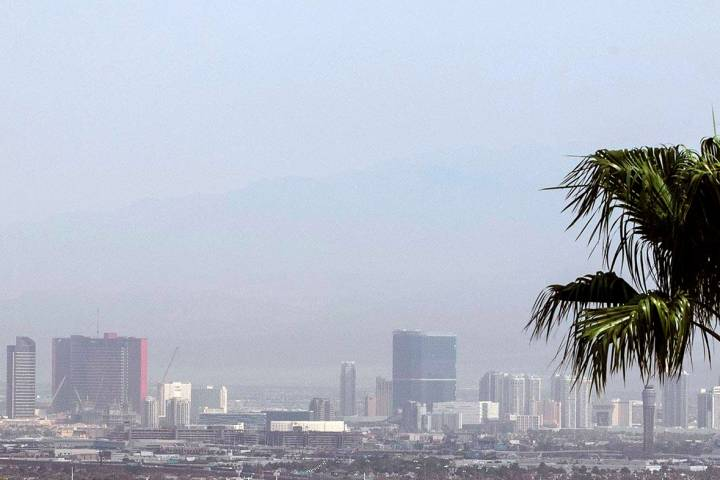 Some haze is expected in Las Vegas on Monday, Sept. 14, 2020. The high should be about 99, acco ...