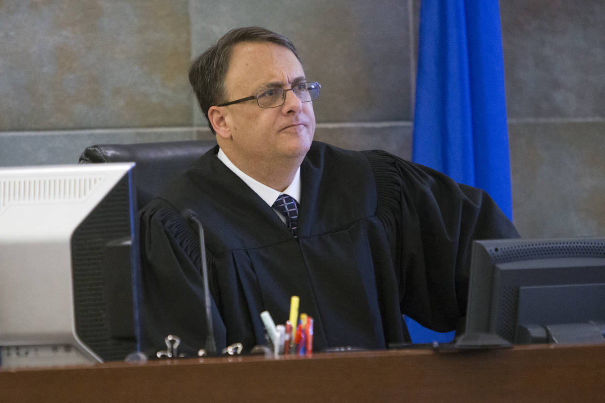 This is a Feb. 14, 2017, file photo of District Judge Richard Scotti at the Regional Justice Ce ...