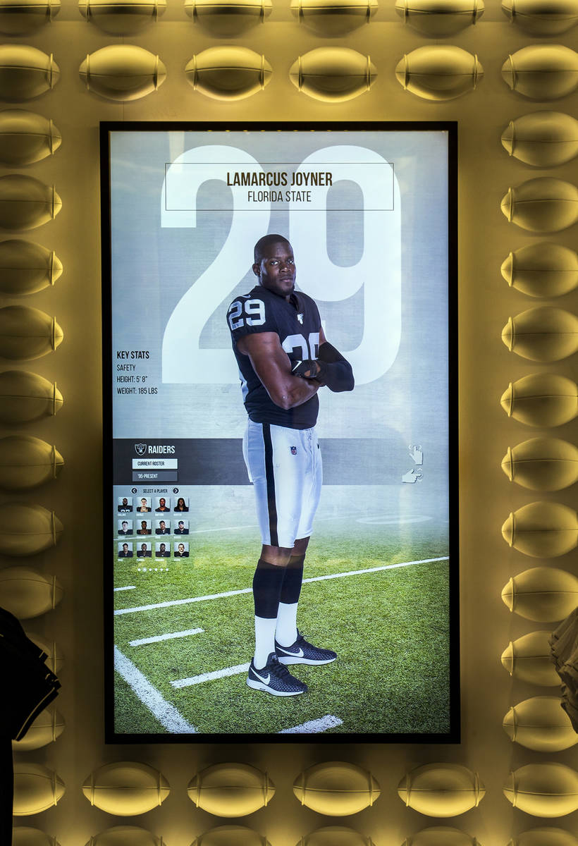 An interactive display can be operated within The Raider Image official team store inside of Al ...