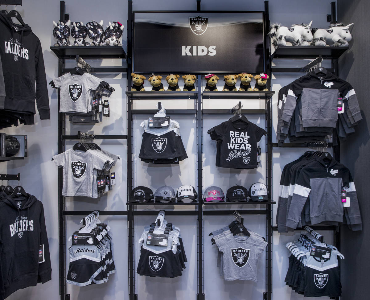 Items for kids are also for sale within The Raider Image official team store inside of Allegian ...