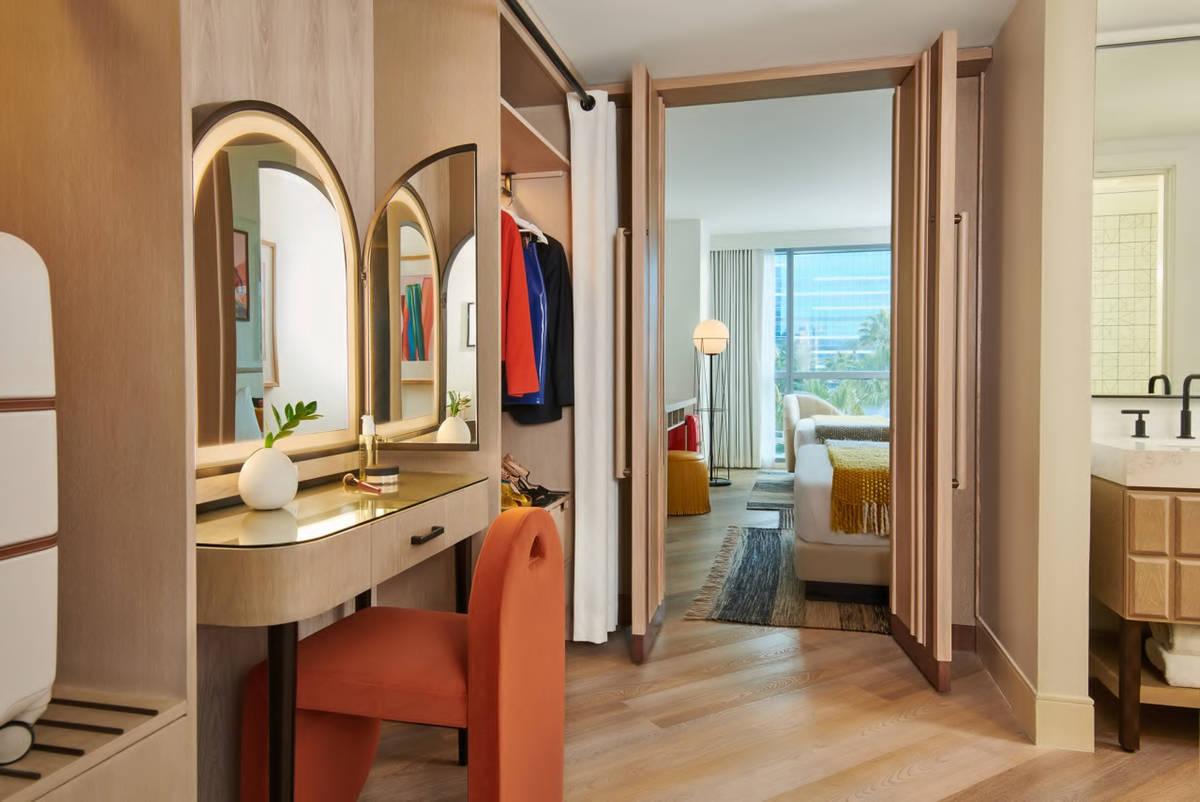 A rendering of a Virgin Hotels Las Vegas Opal Tower suite (courtesy Virgin Hotels Las Vegas)