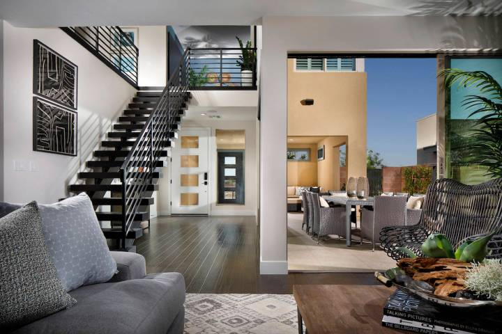 Terra Luna by Pardee Homes in The Cliffs village features a stunning example of how retractable ...