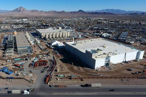 Aerial view of the Google Data Center under construction in Henderson, Nevada on Tuesday, Febru ...