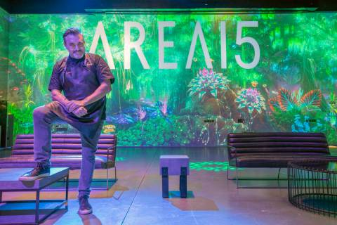 Chef Todd English is photographed inside of Area15 days before the opening, in Las Vegas on Mon ...