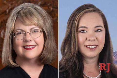 Bonnie Bulla, left, and Susan Bush, candidate for Nevada Court of Appeals (Courtesy/Facebook)