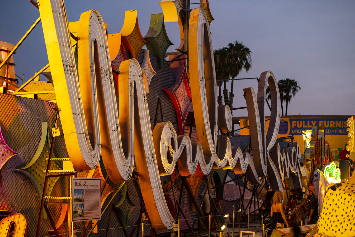 The Moulin Rouge sign is seen before being reilluminated at the Neon Museum in Las Vegas on Wed ...